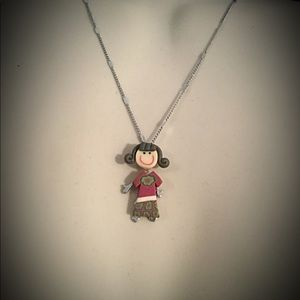 Jewelry - Little Girl Charm Necklace.  School Girl Charm
